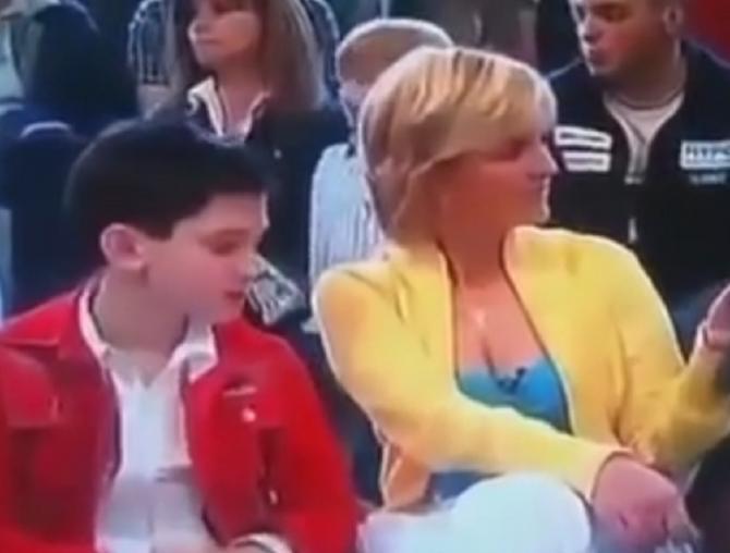 Dino Jelušić i Sanja Doležal 2004. u TV emisiji