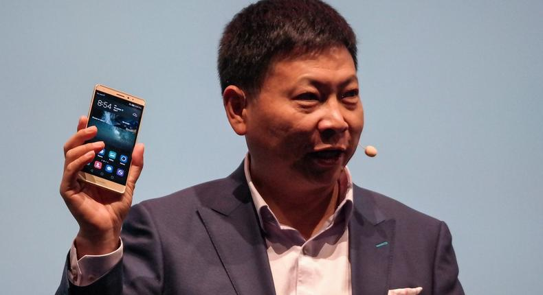 Huawei CEO, Richard Yu at the launch of the Mate S
