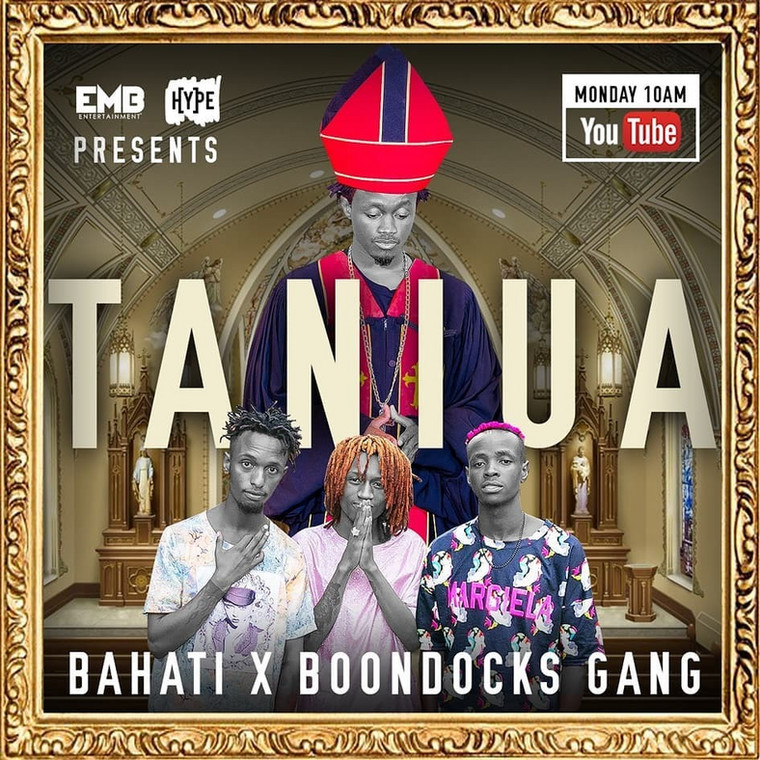 "Bahati goes after Boondocks Gang for his new song ""Taniua"" and Kenyans can't keep calm (Video)"