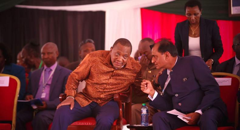 Narendra Raval with President Uhuru Kenyatta