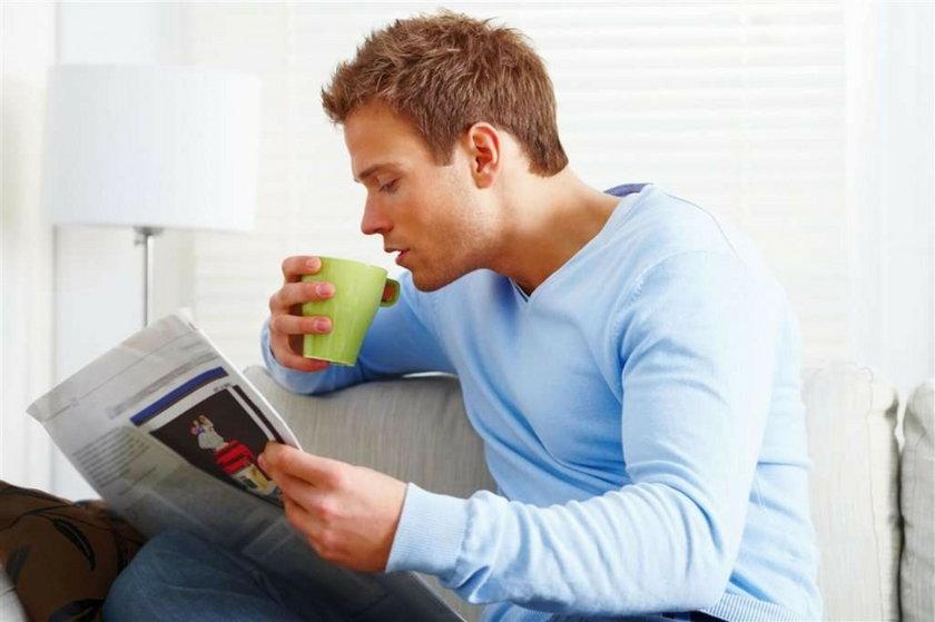 Mężczyźni, którzy piją kawę, nie zachorują na raka...