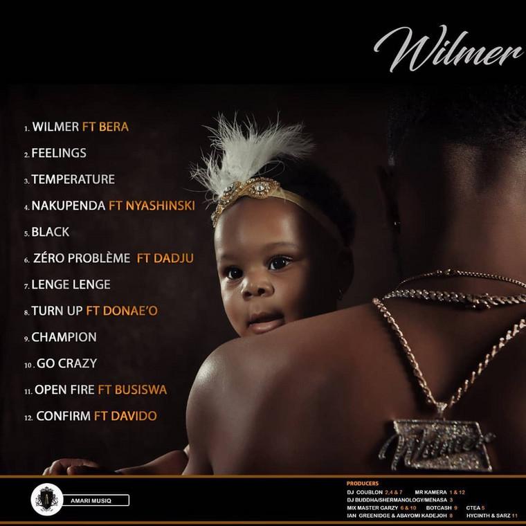 Tracklist for 'Wilmer' by Patoranking. (Instagram/Patorankingfire)