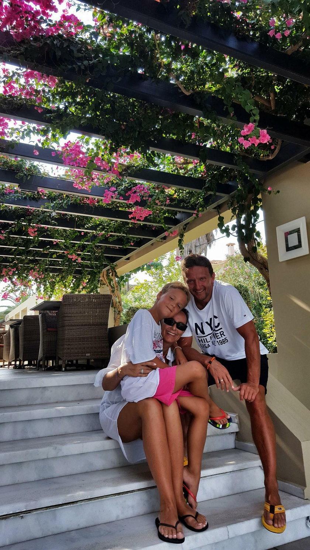 Katarzyna Skrzynecka na wakacjach w Grecji