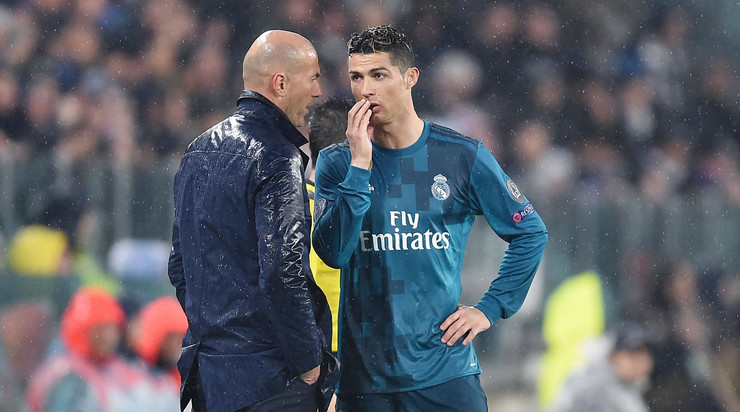 Zinedin Zidan i Kristijano Ronaldo u periodu dok su sarađivali u Real Madridu