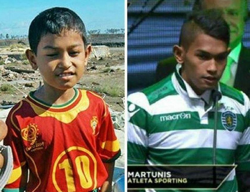 Przeżył tsunami w koszulce Portugalii. Teraz tam zagra