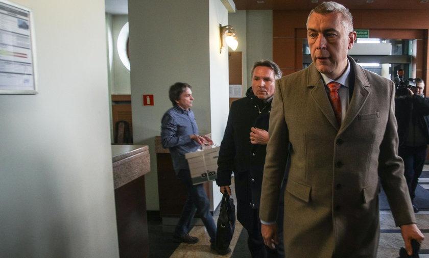 Roman Giertych i Gerald Birgfellner w prokuraturze