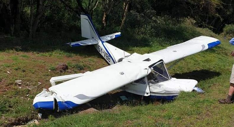 Light aircraft crashes in Isiolo (Photos)