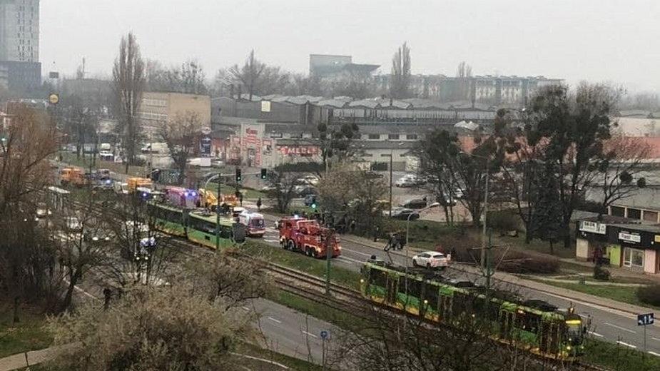 wypadek na ul. Zamenhofa w Poznaniu