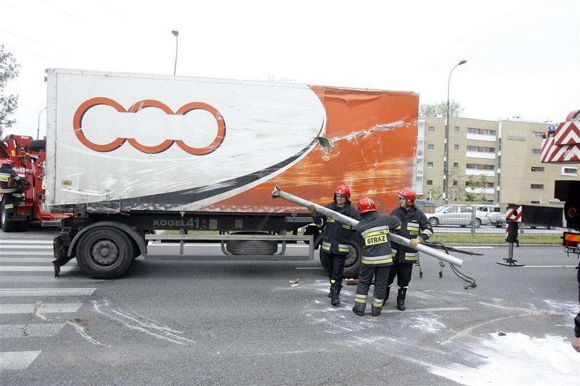 Groźny wypadek TIR-a! FOTY