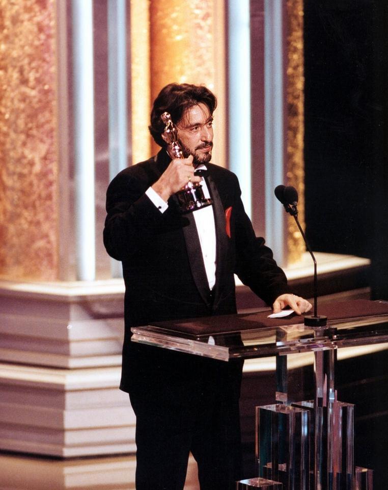 """Al Pacino - ceremonia w 1993 roku, Oscar za pierwszoplanową rolę w """"Zapachu kobiety"""""""