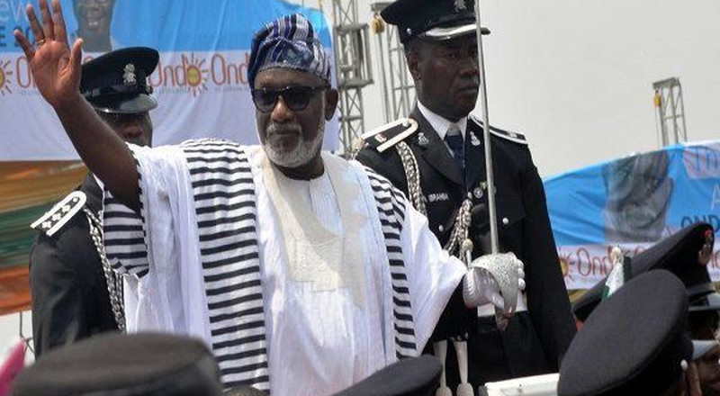 Governor Akeredolu of Ondo has just been sworn-in for a 2nd term in office