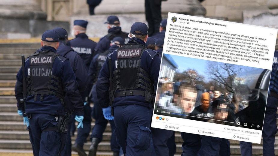 Bulwersująca interwencja funkcjonariusza w Głogowie. Policja publikuje nagranie