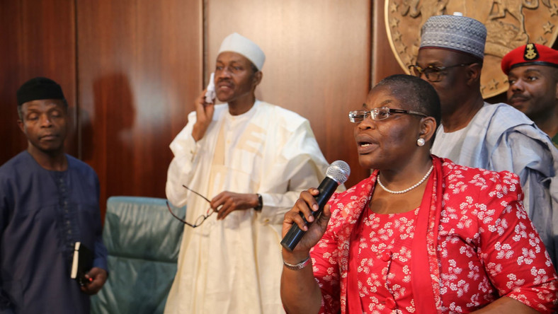 Dr Oby Ezekwesili has been a fierce critic of President Muhammadu Buhari's administration for years [BBC]