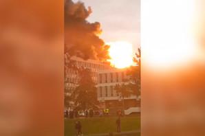 EKSPLOZIJA U FRANCUSKOJ Jake detonacije odjeknule u zgradi univerziteta, GUSTI DIM prekrio nebo (VIDEO)