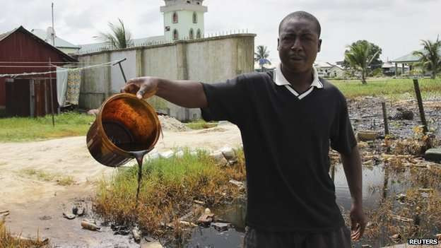 Fishing communities in the Niger Delta badly hit by oil spills (This picture is for illustrative purposes).