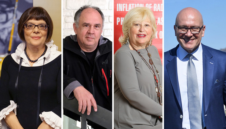 Maja Gojković, Bule Goncić, Nada Popović Perišić, Vladan Vukosavljević