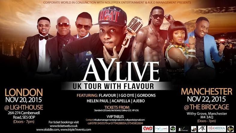 AY Live tour with Flavour