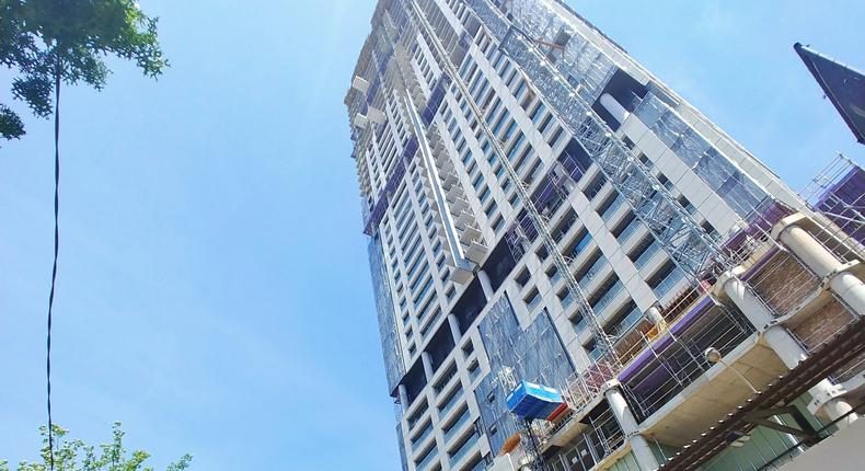The Leonardo Skyscrapper in Santon. (twitter/UlrichJvV)