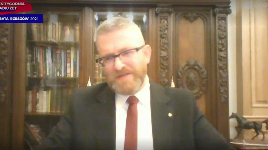 Grzegorz Braun chce przeprosin po wyrzuceniu z debaty. Radio Zet odpowiada