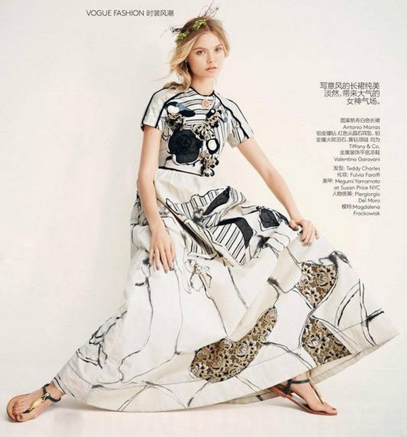 """Magdalena Frąckowiak w chińskim """"Vogue'u"""""""