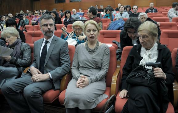 Gorica Mojović, Dejan Ristić, Ružica Đinđić i Latinka Perović