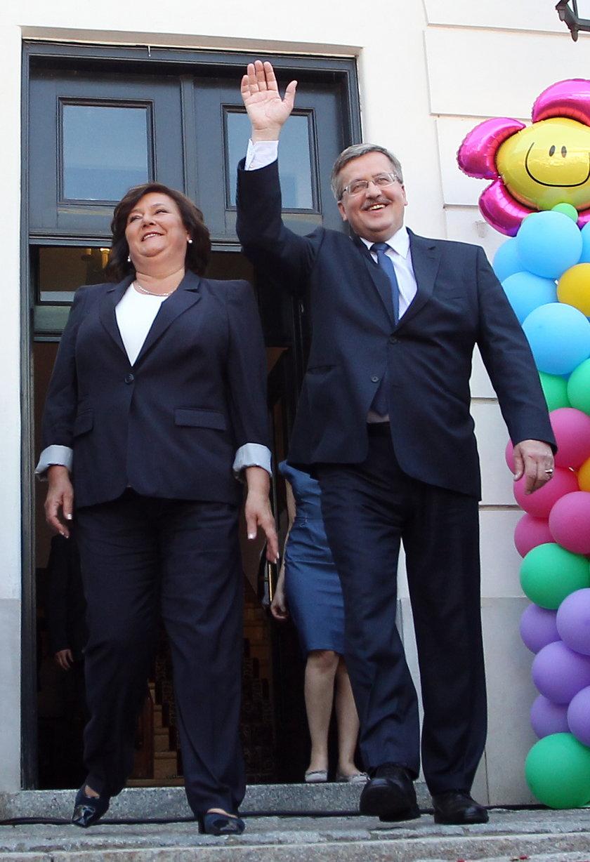 Prezydent Bronisław Komorowski z żoną