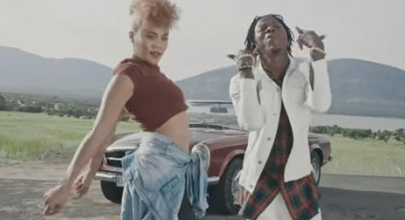 Stonebwoy in the video of his 'Wogbe jeke' track.