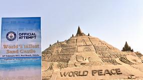 W Indiach wybudowano najwyższy na świecie zamek z piasku