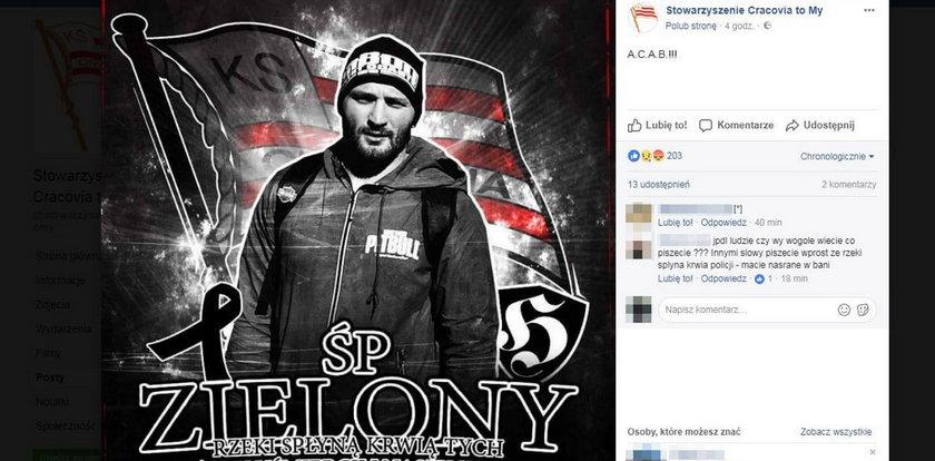 Grożą policjantowi, który zastrzelił pseudokibica Cracovii?