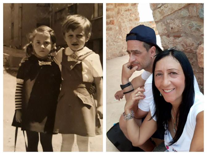 Vanja Terzić sa sestrom u Sarajevu i sa suprugom Grkom