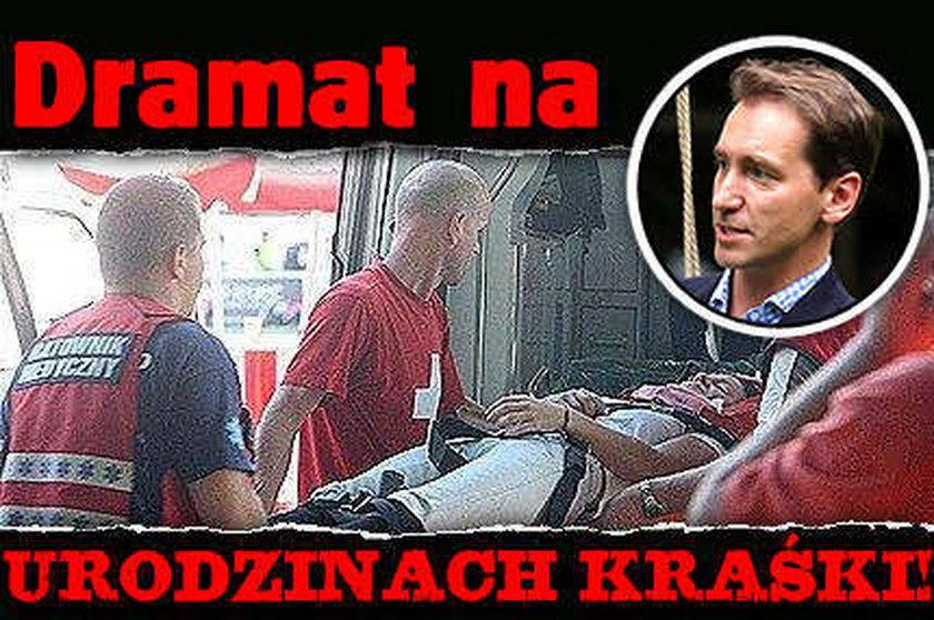 Dramat na 40. urodzinach Piotra Kraśki. ZDJĘCIA