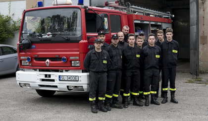 Strażacy ochotnicy zbierają na remizę