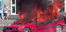 Tragedia! Zadłużony radny spalił się w aucie