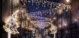 Świąteczne światełka nad Łodzią