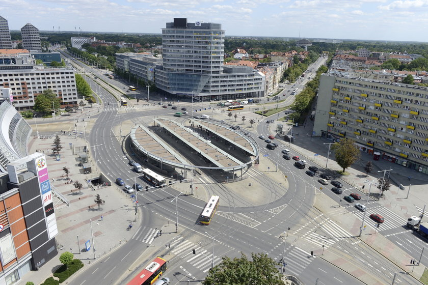 Pasy rondo Reagana Wrocław
