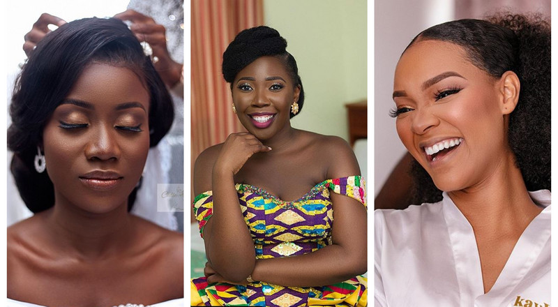 Top 12 makeup artists enhancing our beautiful Ghanaian brides