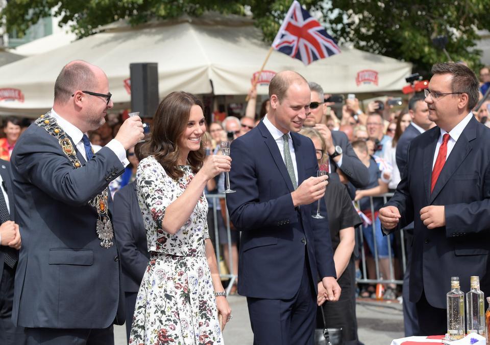 Spacer pary książęcej Cambridge po Długim Targu w Gdańsku