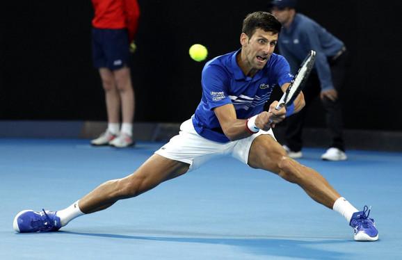 Novak Đoković tokom polufinala u Melburnu