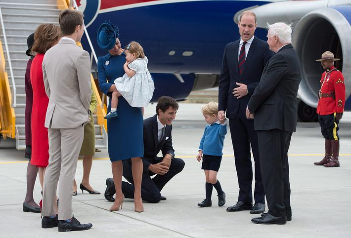 Duke of Cambridge, Duchess of Cambridge, Prince George, Princess Charlotte, Justin Trudeau, David Jo