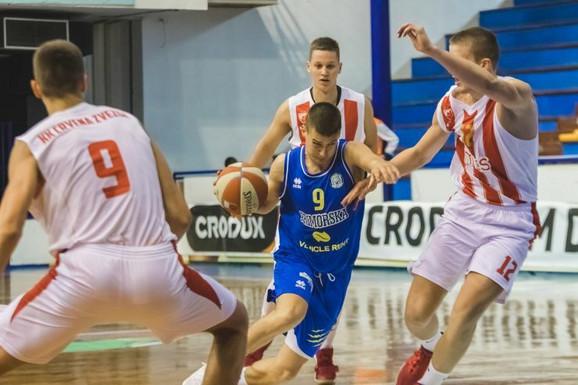 Detalj sa utakmice juniorske ABA lige Crvena zvezda - Primorska
