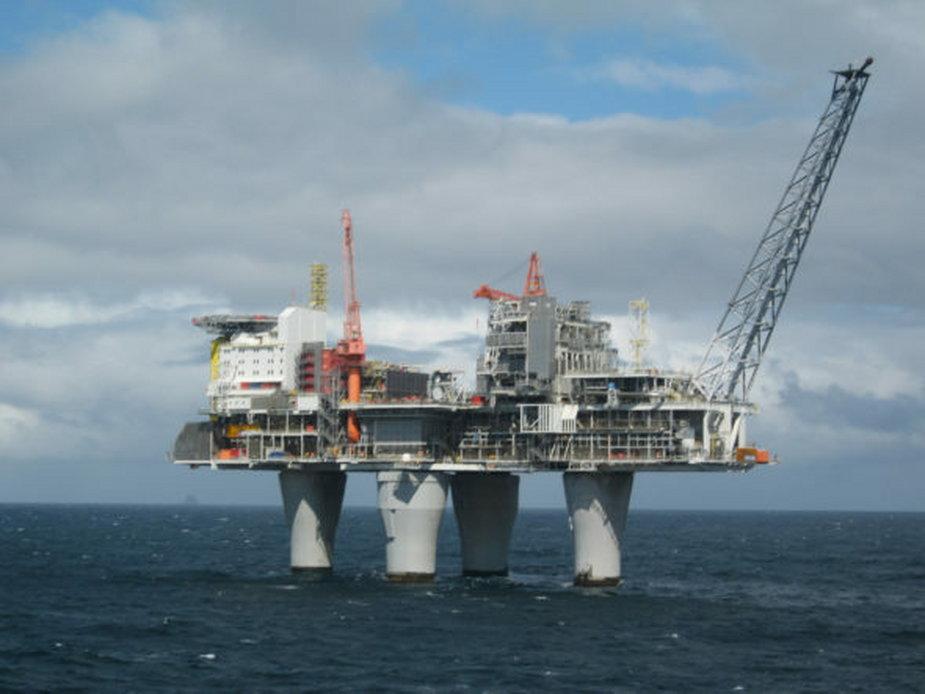 Platforma naftowa w pobliżu Stavanger
