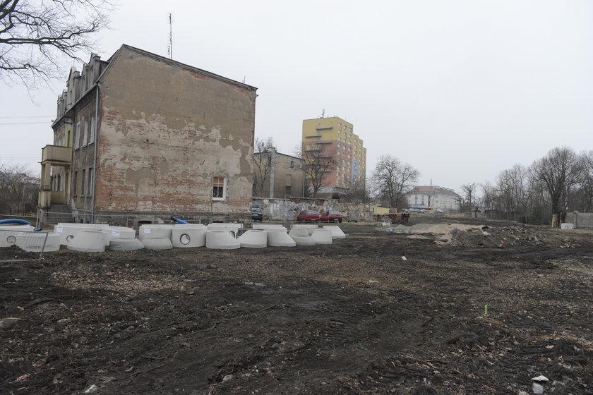 Teren budowy ul. Nowogorlickiej