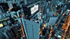 Rosjanie weszli na wieżowiec w Hongkongu i  wyświetlili swój film