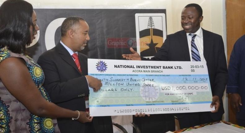 Korle-Bu Burns ICU receives $1 million donation from GNPC