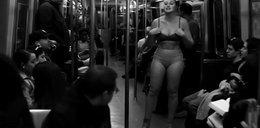 Rozebrała się w wagonie metra. Ludzie osłupieli
