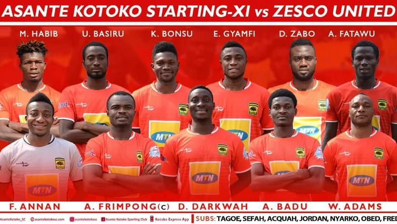 Kotoko starting XI