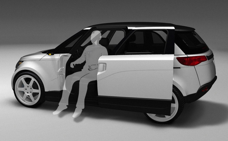 W ELV001 przewidziano drzwi przesuwane do tyłu. Takie rozwiązanie ułatwia wsiadanie i wysianie na ciasnych parkingach