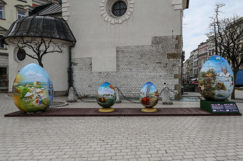 Wielkanocne dekoracje w mieście - Kraków