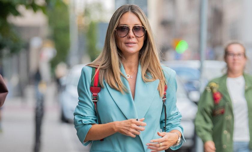 Małgorzata Rozenek z plecakiem Gucci za ponad 4 tys. złotych.