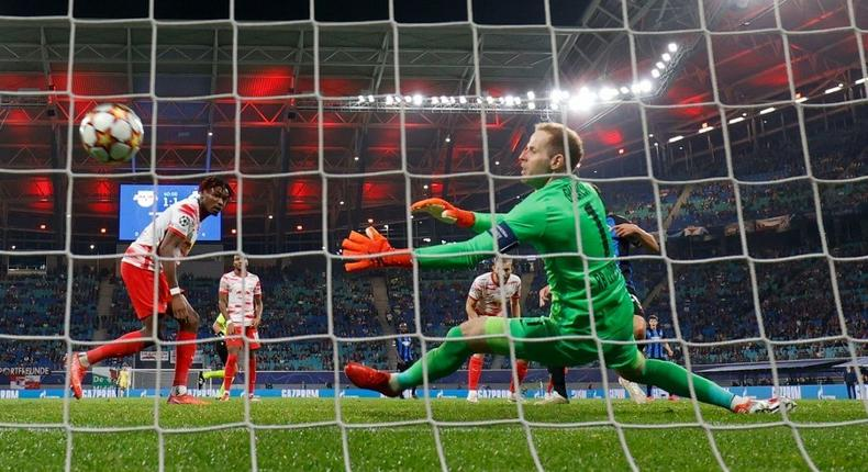 RB Leipzig slumped to a surprise 2-1 home defeat to Club Brugge in the Champions League on Tuesday Creator: Odd ANDERSEN